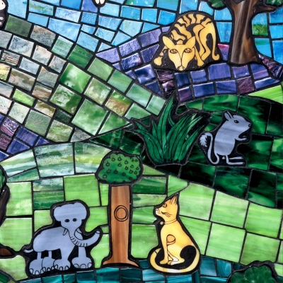 Mosaic Garden Chair - Assorted Animals