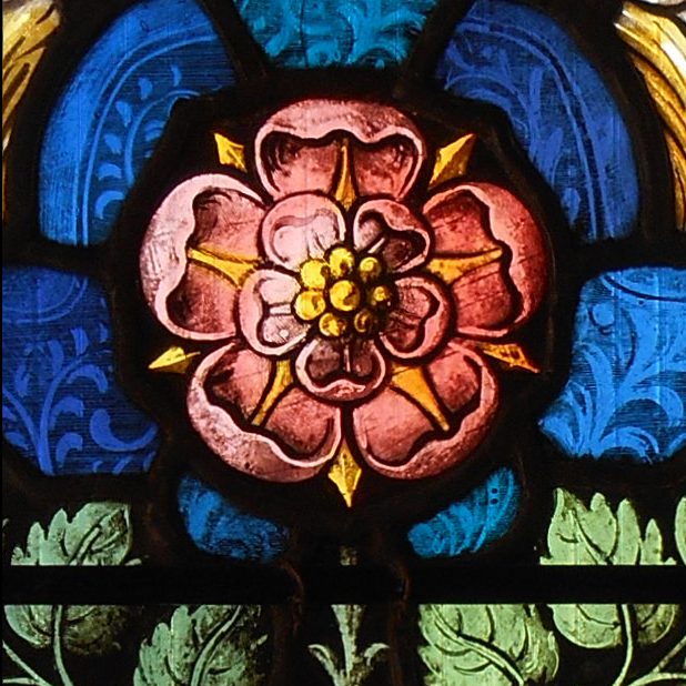 Glass painting detail
